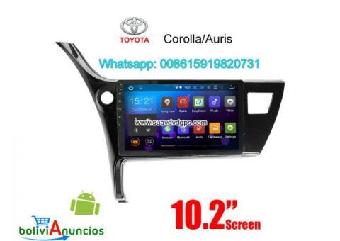 Toyota Corolla Auris 2017 radio Car android wifi GPS cámara navegación
