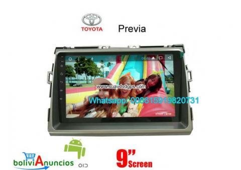 Toyota Previa Car radio GPS androide cámara navegación Wifi