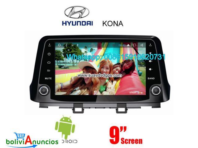 Hyunday Kona 2017 radio audio Cámara androide navegación GPS wifi